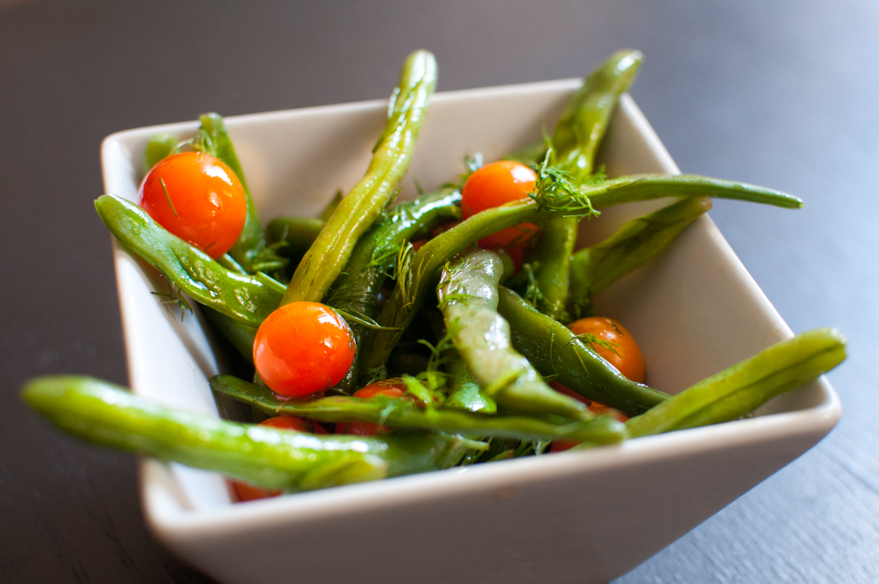 String Bean Tomato Salad