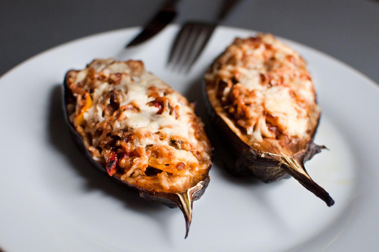 Stuffed Eggplants with Bulgur