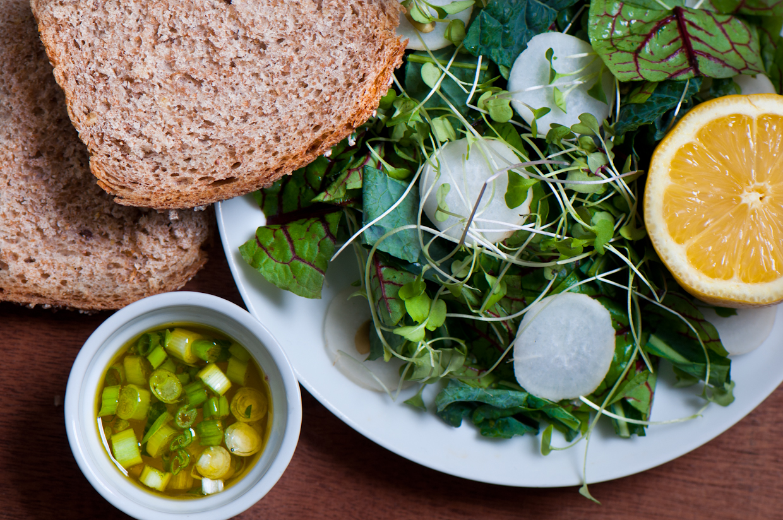 Kale Sorrel Sprout Radish Salad